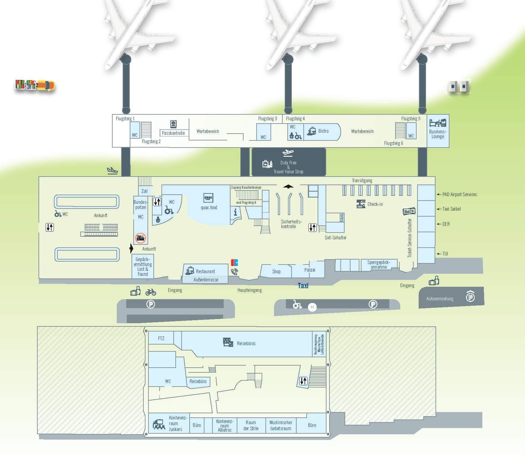 Gran Canaria Karte Flughafen.Maps Paderborn Lippstadt Airport